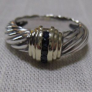 David Yurman Princess Collection Sapphire Ring